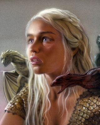 Emilia Clarke as Daenerys Targaryen Background for iPhone 5