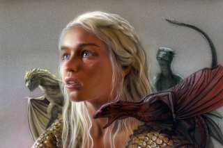 Emilia Clarke as Daenerys Targaryen Picture for Android 800x1280