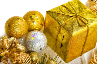 Golden New Year Gift - Fondos de pantalla gratis