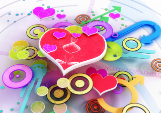 3d Heart Wallpaper for Android, iPhone and iPad