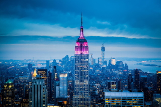 Empire State Building in New York sfondi gratuiti per cellulari Android, iPhone, iPad e desktop