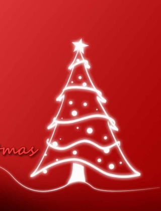 Christmas Red And White Tree Wallpaper for Nokia C5-06
