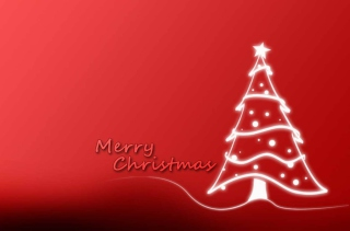 Christmas Red And White Tree Wallpaper for Android, iPhone and iPad