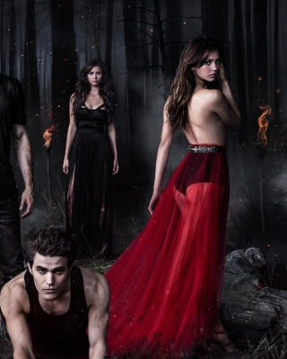 The Vampire Diaries with Nina Dobrev Wallpaper for iPhone 6 Plus