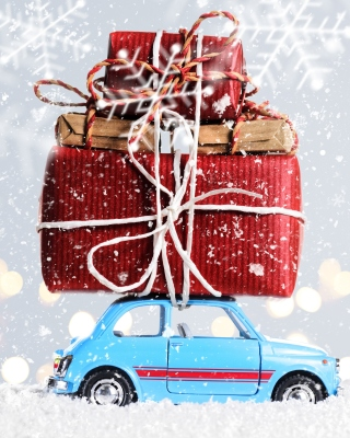 Xmas Car Gift Wallpaper for 240x320