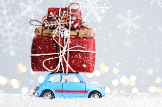 Xmas Car Gift Background for Android, iPhone and iPad