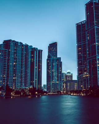 Miami Night HD Photo Background for Nokia Asha 306