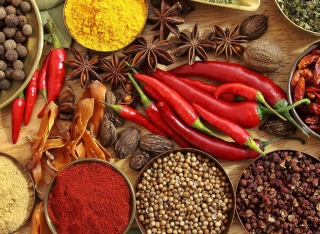 Indian spices and curry Picture for Android, iPhone and iPad