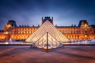 Paris Louvre Museum Background for Android, iPhone and iPad