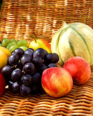 Melons, apricots, peaches, nectarines, grapes, pear Background for Nokia Lumia 925
