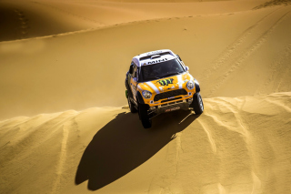 Mini Cooper Countryman Dakar Rally Background for Desktop 1280x720 HDTV