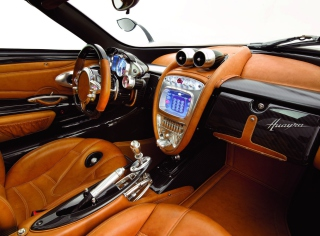 Pagani Huayra Interior Background for Android, iPhone and iPad