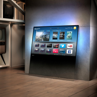 Smart TV with Internet Background for iPad Air