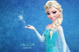 Snow Queen Elsa In Frozen Background for Android 960x800