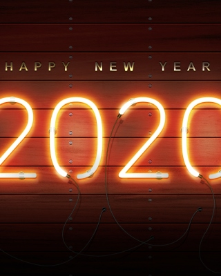 Happy New Year 2020 Wishes sfondi gratuiti per Nokia Asha 305