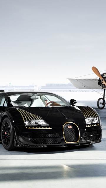 Sfondi Bugatti And Airplane 360x640