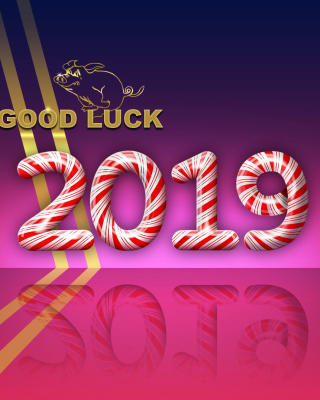 Good Luck in New Year 2019 sfondi gratuiti per Nokia Lumia 925
