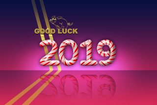 Kostenloses Good Luck in New Year 2019 Wallpaper für Fullscreen Desktop 1280x1024
