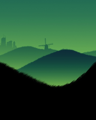 Free Green Hills Illustration Picture for 480x800