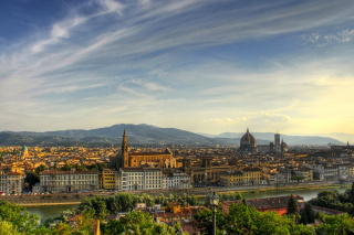 Florence Panoramic View Background for Android, iPhone and iPad