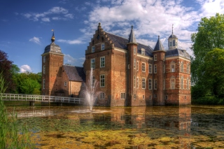 Netherlands Kasteel Ruurlo sfondi gratuiti per cellulari Android, iPhone, iPad e desktop