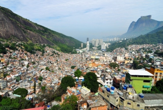 Rio De Janeiro Slum Background for Android, iPhone and iPad