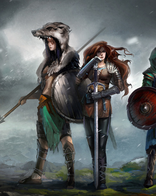 Warriors Valkyries, Norse Mythology Wallpaper for iPhone 6 Plus