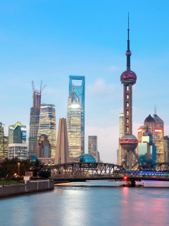 Screenshot №1 pro téma Shanghai Bund Waterfront Area 240x320