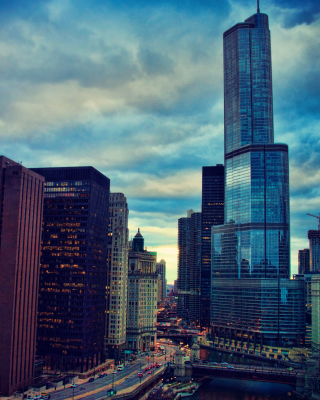 Chicago, Illinois Background for Nokia Asha 311