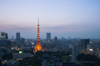 Twilight in Tokyo Background for Android, iPhone and iPad