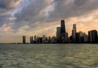 Chicago Skyline Wallpaper for Android, iPhone and iPad