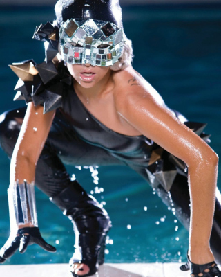 Lady Gaga Poker Face Wallpaper for Nokia Asha 306