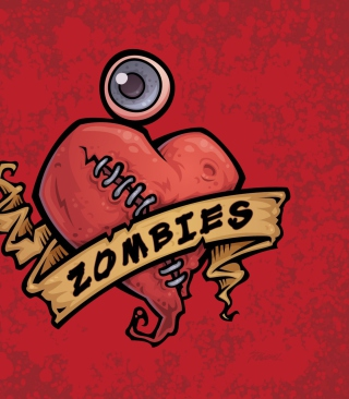 Free Zombies Heart Picture for 240x320