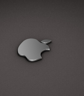 Apple Logo Metallic Wallpaper for Nokia Asha 311