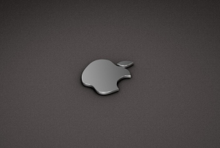 Apple Logo Metallic Wallpaper for Android, iPhone and iPad