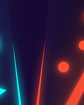 Blue Red Neon Wallpaper for iPhone 5S