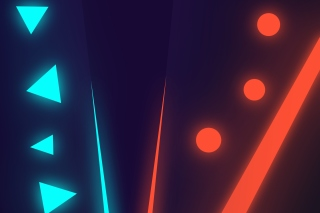 Blue Red Neon Wallpaper for Android, iPhone and iPad