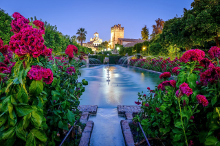 Palace in Cordoba, Andalusia, Spain Background for Android, iPhone and iPad