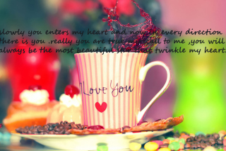 Love You Coffee Cup sfondi gratuiti per cellulari Android, iPhone, iPad e desktop