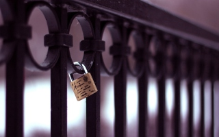 Forever Love Lock Wallpaper for Android, iPhone and iPad