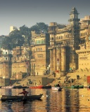 Screenshot №1 pro téma Varanasi City in India 128x160