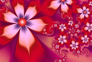Обои Red Flower Pattern для Android