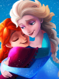 Screenshot №1 pro téma Frozen Sisters Elsa and Anna 240x320