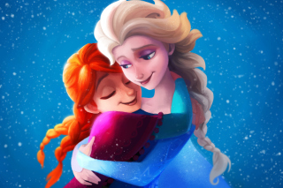 Frozen Sisters Elsa and Anna Background for Android, iPhone and iPad
