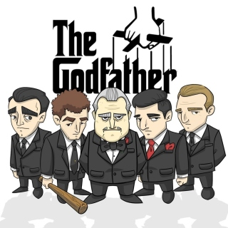 Kostenloses The Godfather Crime Film Wallpaper für iPad 3