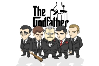 The Godfather Crime Film Background for Samsung S6500 Galaxy mini 2