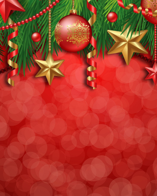 Red Christmas Decorations Background for Nokia C1-01