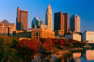 Columbus Skyline, Ohio, USA Wallpaper for Android, iPhone and iPad