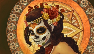 Dia De Muertos Wallpaper for Nokia X2-01