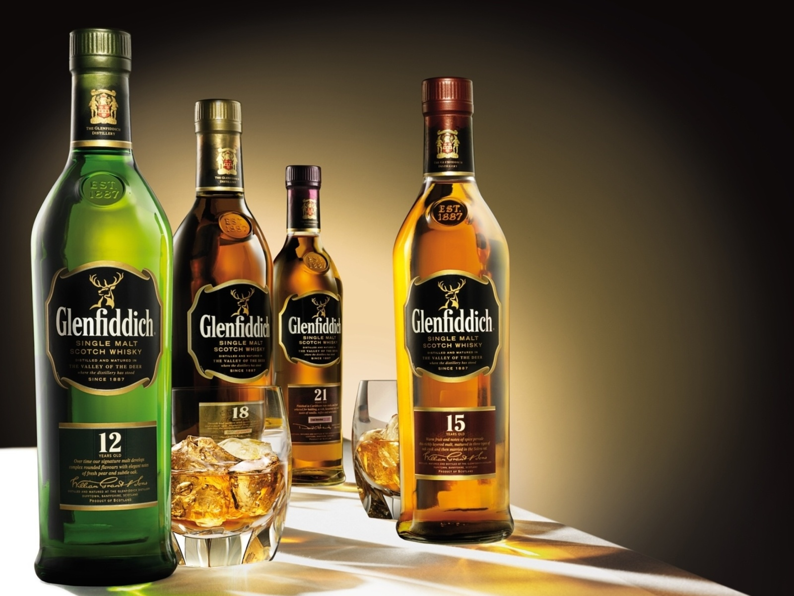 Screenshot №1 pro téma Glenfiddich special reserve 12 yo single malt scotch whiskey 1600x1200